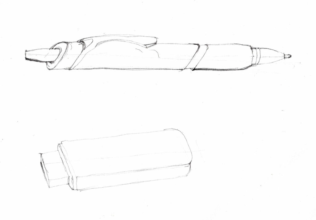 Drawing of a pen