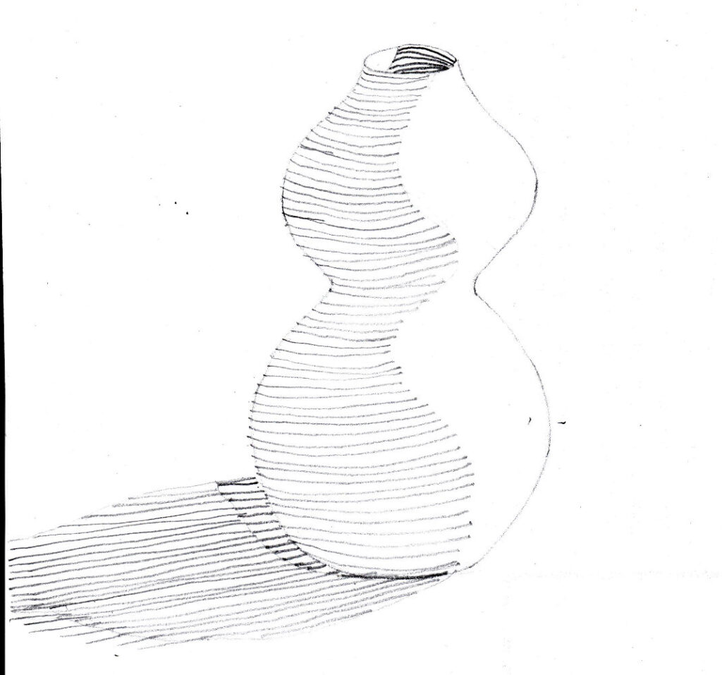 Vase with contours