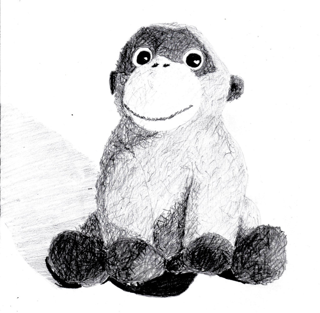 Monkey with texture