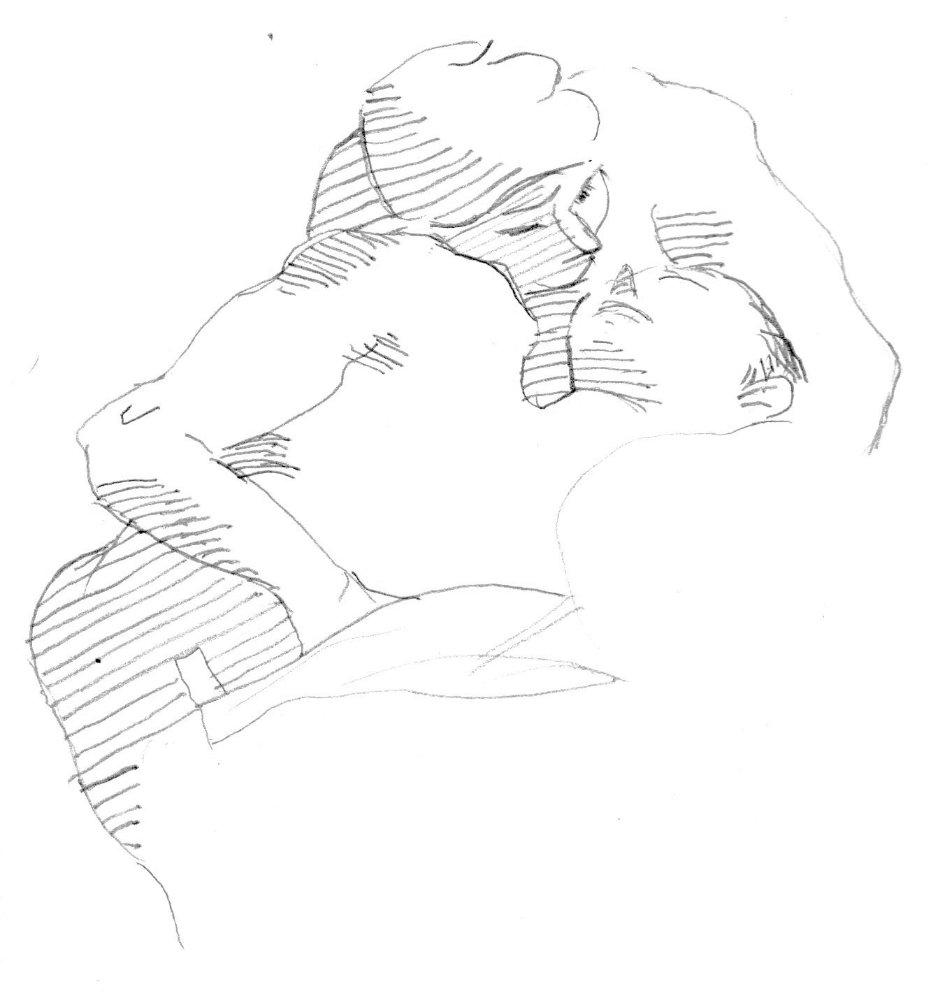 Sketch of two men