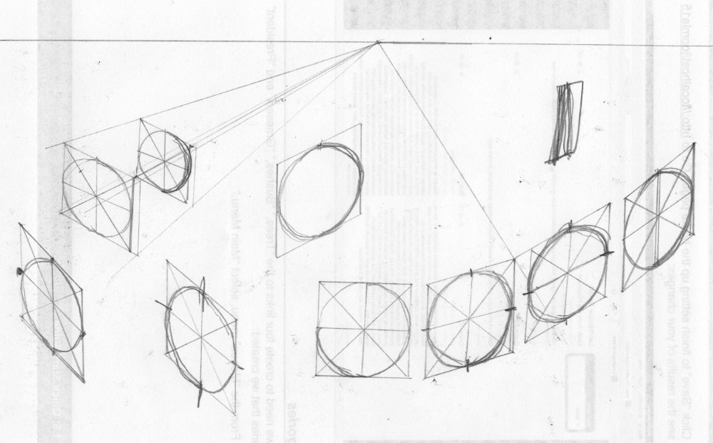 Circles at different angles