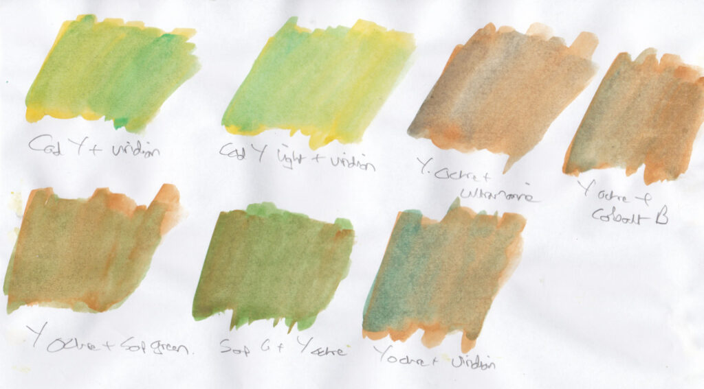 Green swatches 2