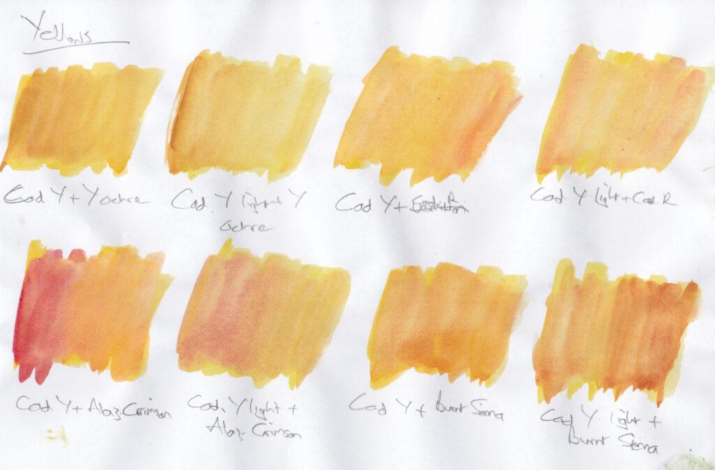 Yellow swatches