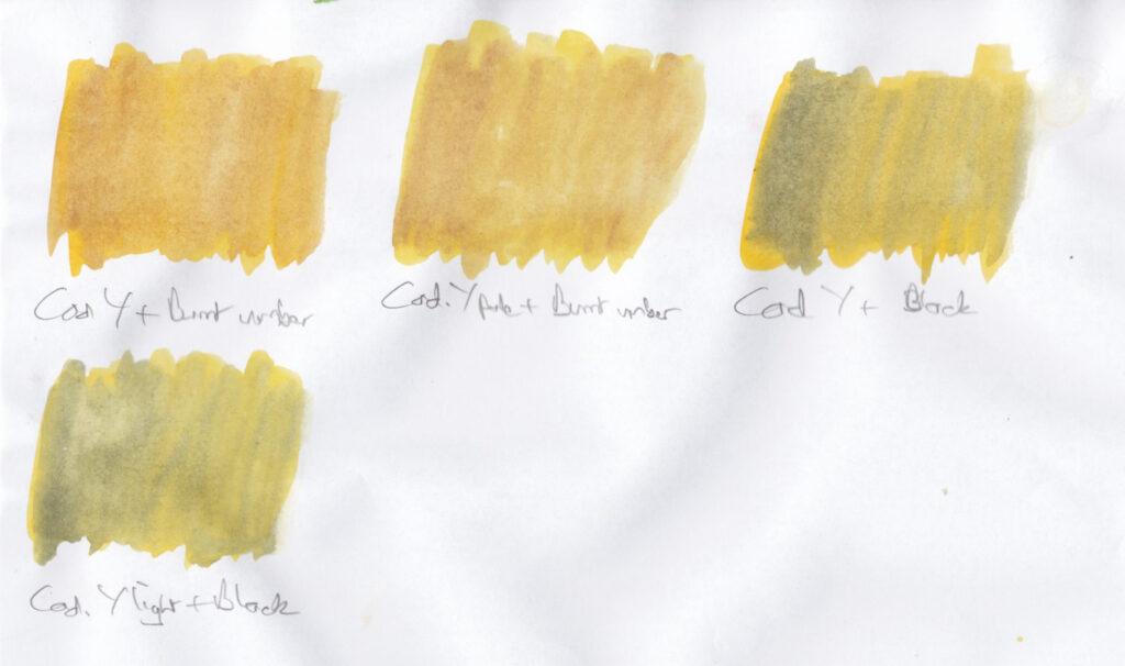 Yellow swatches 2