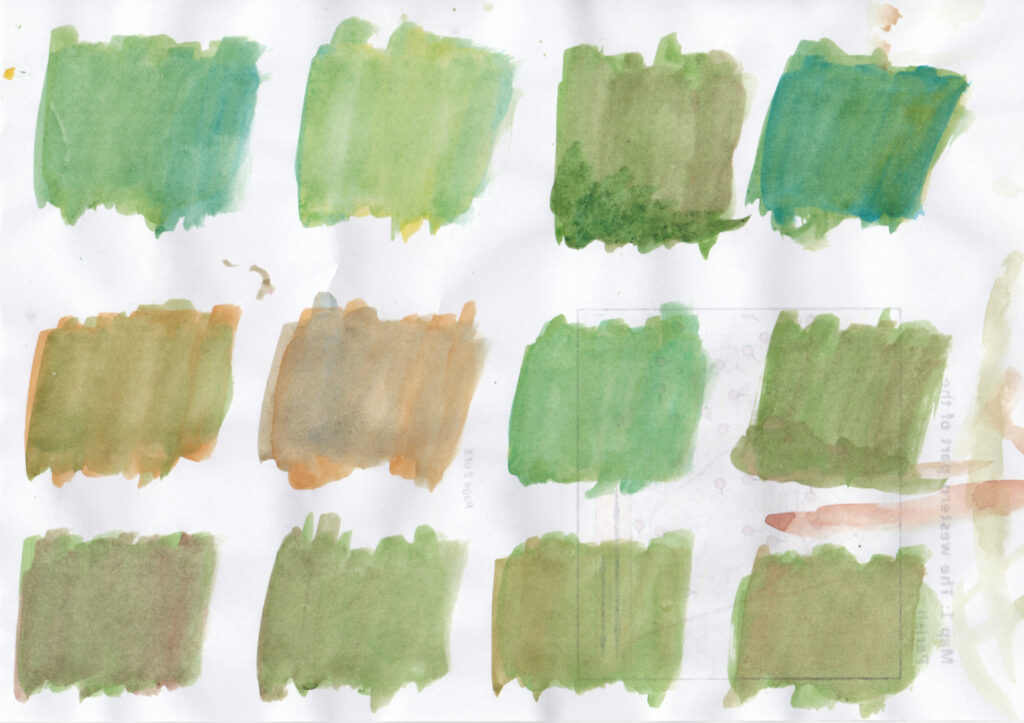 Green swatches